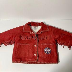 Toddler Harley Davidson fringe embroidered jacket